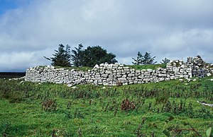 Early Irish law - Ruins of the O'Davoren law school at Cahermacnaghten, County Clare, which was occupied in the later Middle Ages
