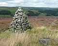 Cairn, Turley Holes Edge, Mytholmroyd - geograph.org.uk - 1444045.jpg