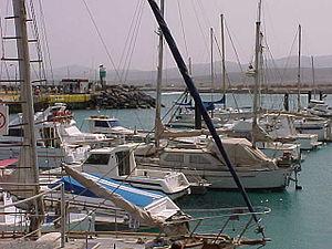 Caleta de Fustes puerto deportivo Fuerteventura