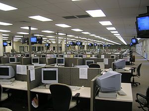 Call centre - A very large call centre in Lakeland, Florida (2006)