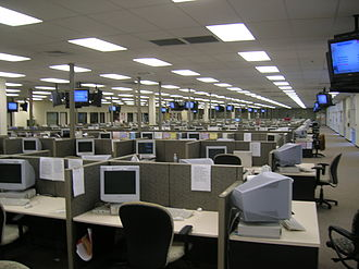 Call centre - A very large call center in Lakeland, Florida (2006)