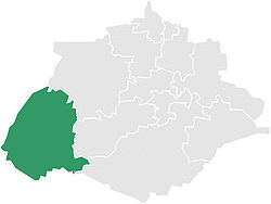 Municipality location in Aguascalientes