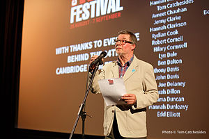 Cambridge Film Festival - Festival Director Tony Jones.