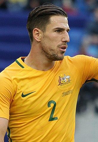 Milos Degenek - Degenek with Australia at the 2017 FIFA Confederations Cup