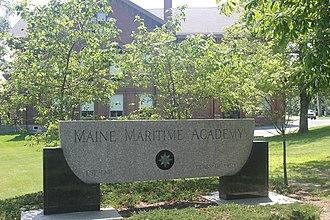 Maine Maritime Academy - Academy sign