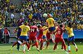 Canadá vence o Brasil no futebol feminino, na Rio 2016 (28989126412).jpg