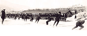 Canadian Siberian Expeditionary Force - The CSEF engages in a tug of war game in 1919.
