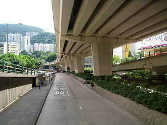 Canal Road, Hong Kong - Canal Road East Flyover under