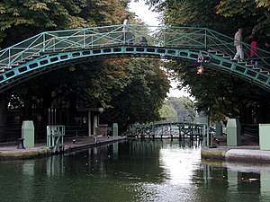 10th arrondissement of Paris - Image: Canal Saint Martin 1