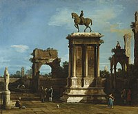 Canaletto - The Colleoni Monument in a Caprice Setting RCIN 404415.jpg