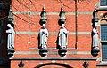 Canisius College (internaat) Nijmegen Nicolaas Molenaar door Egidius Everaerts vervaardigde beelden van de vier jezuieten heiligen (H. Ignatius, H. Aloysius Conzaga, H. Franciscus Borgia en H. Stanislaus Kostka 1925.jpg