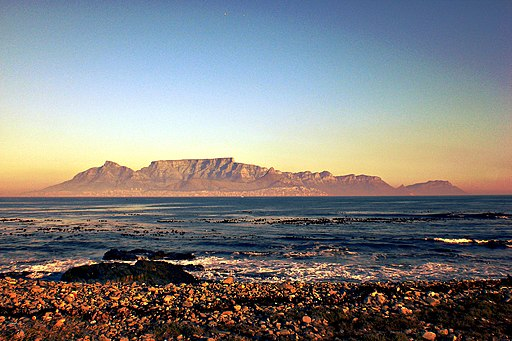 Cape Town, Table Mountain from Robben Island - panoramio