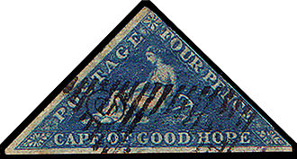 De La Rue - Image: Cape Triangular Postage Stamp