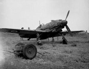 Macchi C.205 - An Italian Macchi C.205 Veltro aircraft found on Catania airfield, Sicily (Italy)