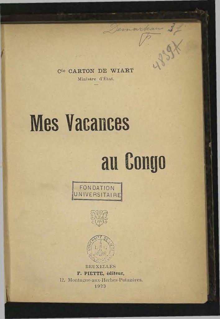 File carton de wiart mes vacances au congo wikimedia commons - Mes photos de vacances ...