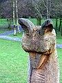 Carved sculpture, Crawfordsburn - geograph.org.uk - 1176832.jpg