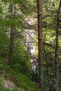 Cascade in the Aberllyn Gorge - geograph.org.uk - 1373154