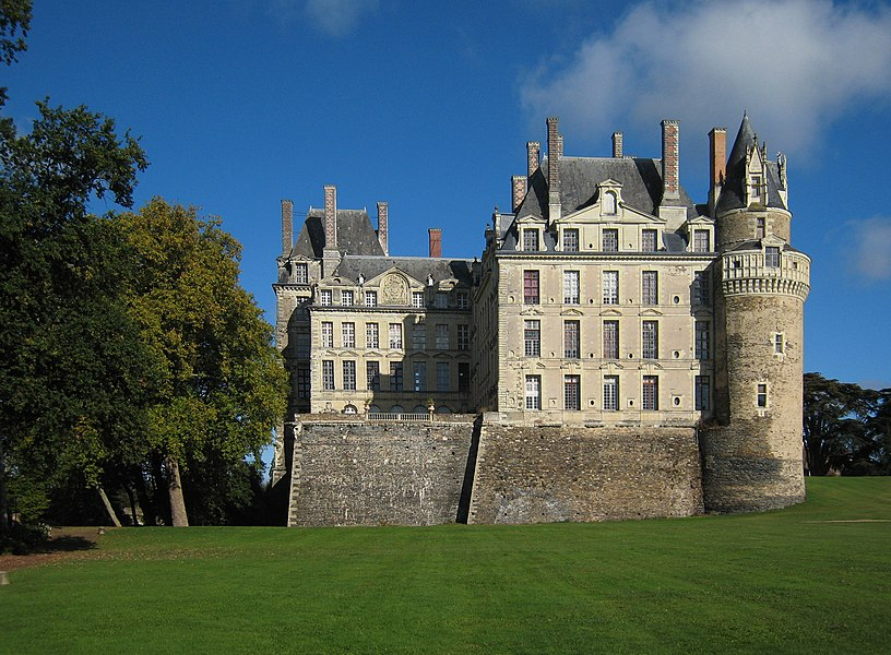 Castle Brissac, located in county of Maine-et-Loire/France, park aspect.