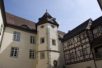 Niederstetten - Inner courtyard of castle Haltenbergstetten