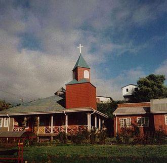 Castro, Chile - Wooden chapel in Gamboa