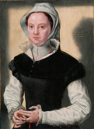 Catharina van Hemessen - Portrait of a Lady, c. 1551. Bowes Museum, Durham