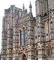 Cattedrale di Wells (Inghilterra) (particolare della facciata).JPG