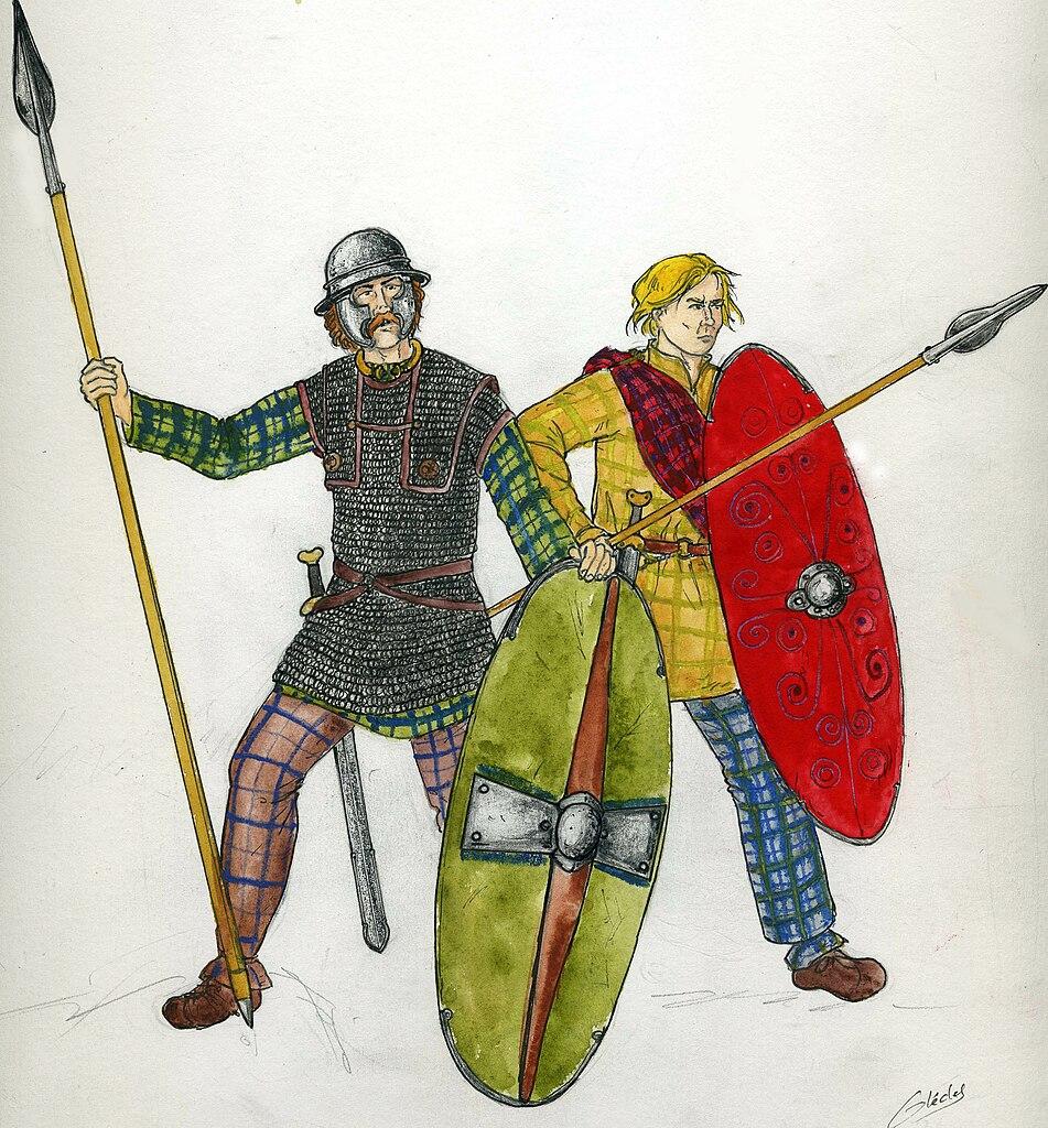 Guerriers celtes du Ier siècle av. J.-C. / CC0, Antoine Glédel, 2009