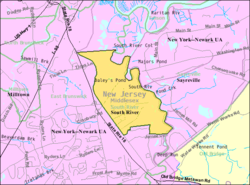 Census Bureau map of South River, New Jersey