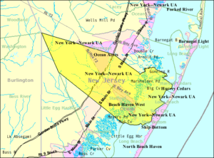 Stafford Township, New Jersey - Image: Census Bureau map of Stafford Township, New Jersey