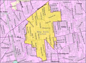 Centereach, New York - Image: Centereach ny map