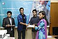 Certificate given in Bangla Wikipedia Editors' Assembly at CIU (06).jpg