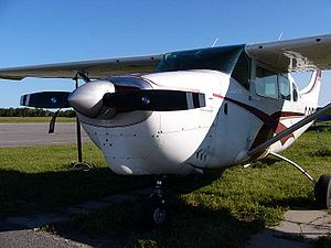 Cessna 206 - A Cessna 205, showing its distinctive cowling