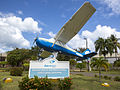 Cessna 172 gate guardian at Gregorio Luperón International Airport, Puerto Plata.jpg
