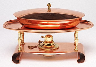 Chafing dish - Chafing Dish and Stand about 1895 Victoria and Albert Museum, London