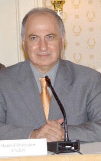 Ahmed Chalabi - Image: Chalabi