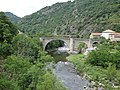 Chalencon (Ardèche, Fr) l'Eyrieux, Pont de Chervil.JPG