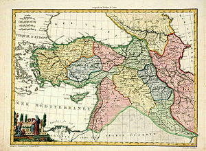 Turquie D'Asie Attractive hand colored antique...
