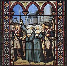 Avrillé, suore condotte all'esecuzione nel 1794.