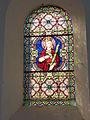 Champlin (Ardennes) église, vitrail d'une martyre.JPG