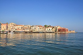 View of the Venetian port of Chania.