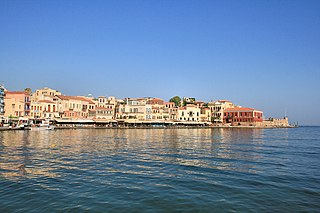 Chania City in Western Crete, Greece