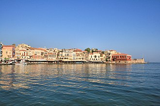 Chania - View of the Venetian port of Chania.