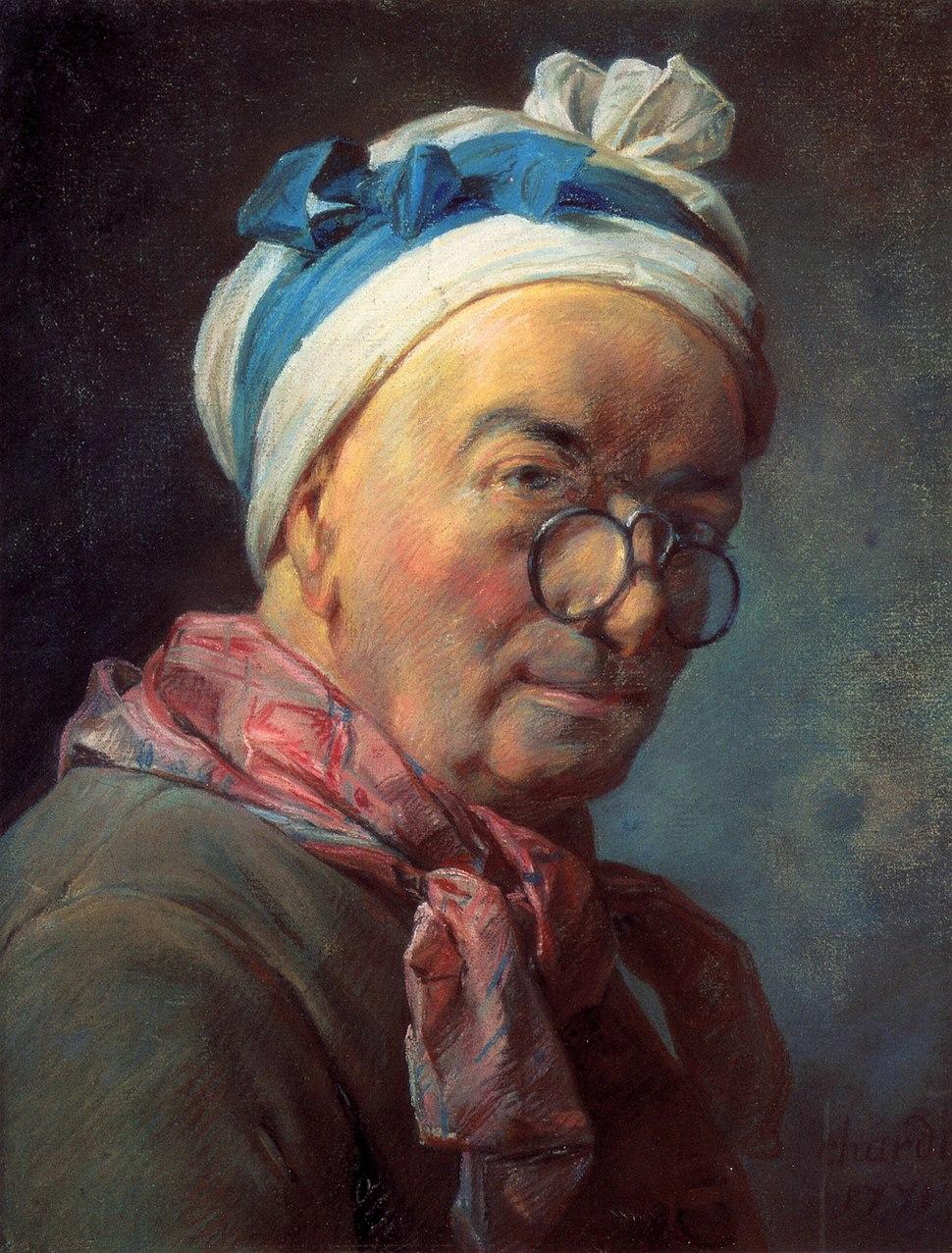Chardin pastel selfportrait