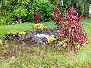 Charles Lindberg grave on Maui, Hawaii.