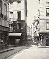 Charles Marville, Rue Grégoire de Tours, de la rue de l'Ecole de Médecine, ca. 1853–70.jpg