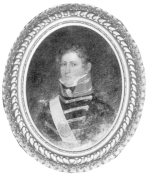 Leatherneck - Circa 1817, First Lieutenant Charles Rumsey Broom, USMC, sports the high collar that gave rise to this moniker.