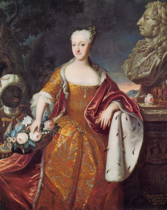 Princess Charlotte Amalie of Denmark - Charlotte Amalie of Denmark. Portrait by Johann Salomon Wahl.