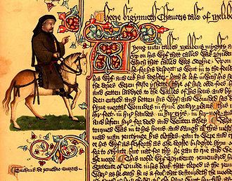 Capitalization in English - Capitalization in Chaucer's Canterbury Tales (Ellesmere Manuscript, about 1400)
