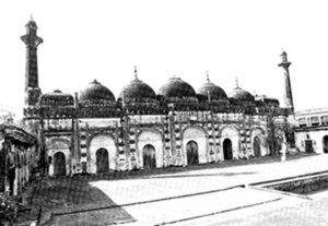"Chawk Masjid - An old photo of the ""Chawk Masjid"" (picture taken by C.B. Asher)"