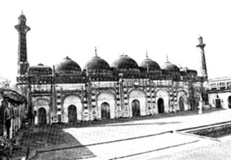 """Chawk Masjid - An old photo of the """"Chawk Masjid"""" (picture taken by C.B. Asher)"""